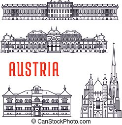 歴史的, sightseeings, 建物, オーストリア