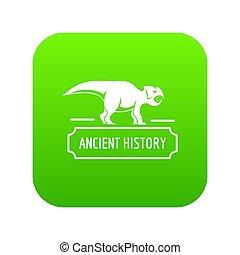歴史, 古代, 緑, アイコン