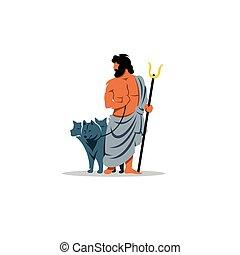 死んだ, ギリシャの神, hades, 印。, mythological, underworld.