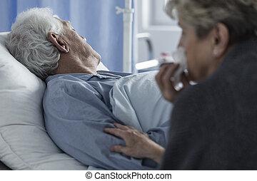 死んだ, 年配の男