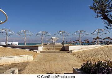 死海, 海灘