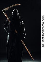 死, ∥で∥, 大鎌, 地位, 暗やみに