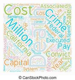 死, によって, 政府, 中に, カリフォルニア, 無駄, お金, テキスト, 背景, wordcloud, 概念