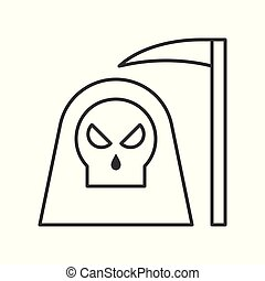 死, 天使, 万圣節, 相關, 大鐮刀, 圖象