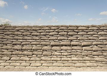 死, trenches, 1(人・つ), フランダース, ベルギー, 世界, 戦争