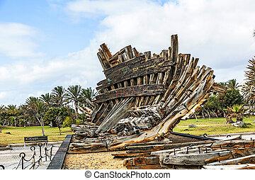 残物, 公園, 古い, 難破, arrecife