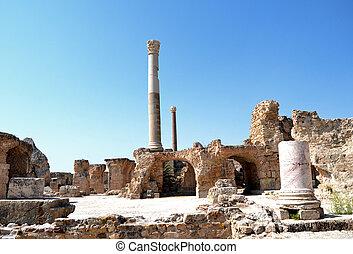 残物, -, 古代, 鉱泉, carthage