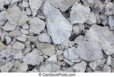 残物, 瓦礫, -, 破壊された, 具体的な 壁