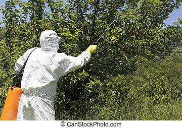 殺虫剤, spraying., pollution., 農業