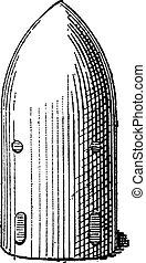 殻, 放物体, 彫版, 型