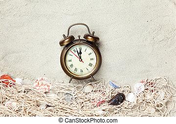 殻, 時計, 網, 警報
