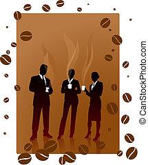 毀坏, 咖啡, 事務