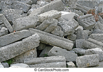 毀滅, 以及, 碎石, ......的, a, 教堂, 破坏, 所作, the, 地震
