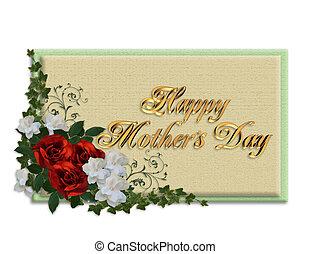 母の日, カード, ばら