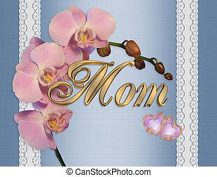 母の日, カード, ピンク, ラン