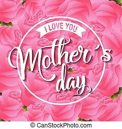 母の日, カード, 花