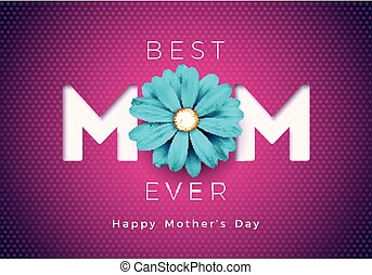 母亲, 设计, 飞行物, 印刷上, poster., 卡片, 矢量, 邀请, 天, 描述, 问候, 花, 旗帜, 小册子, 开心, 背景。, 样板, 粉红色, 妈妈, 庆祝