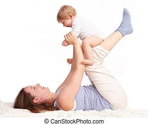 母親遊び, 笑い, 彼女, 息子