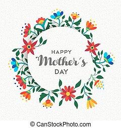 母親, 簡單, 裝飾品, 設計, 植物, 天, 愉快