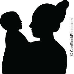 母, そして, 彼女, 男の赤ん坊, 肖像画