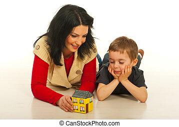 母 と 息子, 持つこと, 会話