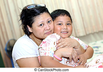 母, アジア人, son.