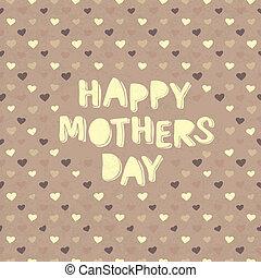 母, バックグラウンド。, ベクトル, 心, 日, カード, 幸せ