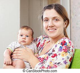 母, 幸せ, 赤ん坊