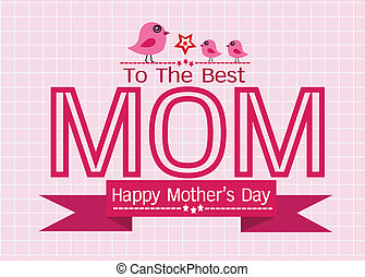母, 挨拶, あなたの, デザイン, お母さん, 日, カード, 幸せ