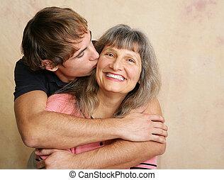 母, 接吻