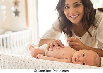 母, moisturizing, 赤ん坊
