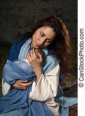 母, nativity 場面, 情事