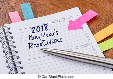 每日的計划員, 由于, the, 進入, 新年, resolutions, 2018