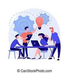 比喩, 企業である, ミーティング, 概念