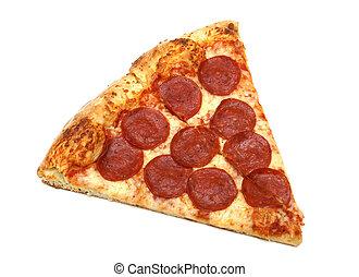 比萨饼的薄片