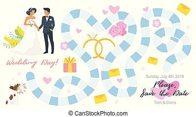比賽板, 樣板, 婚禮