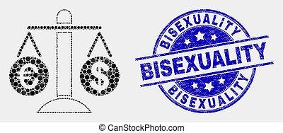 比較しなさい, グランジ, 切手, ドル, bisexuality, ベクトル, アイコン, ピクセル, ユーロ
