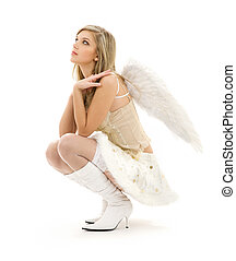 毛がふさふさしている, スカート, 天使