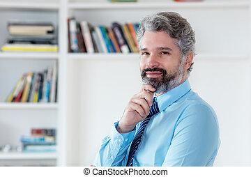 毛, ビジネスマン, 痛みなさい, 灰色, ネクタイ