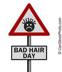 毛, 現実的, day', 隔離された, 印, 写真, 'bad, 白