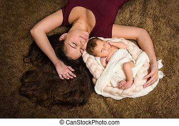 毛, 赤ん坊, 長い間, 母