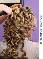 毛, bridal, スタイルを作ること