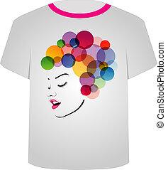 毛, t の ワイシャツ, フラクタル, template-