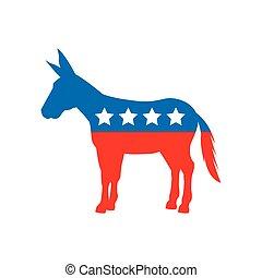 民主党員, 政党, 動物