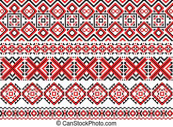民族, traceries, 装飾, レトロ