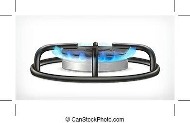 气体, 廚房, 爐