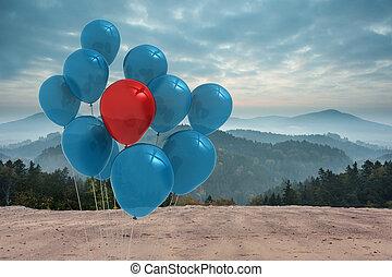 气球, 在之前, 山