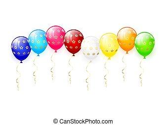 气球, 星, 多种顏色