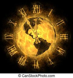 気候, 宇宙, 世界的である, -, 暖まること, 時間, アメリカ, 変化しなさい