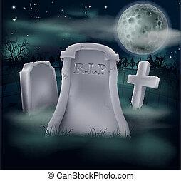 気味悪い, 墓